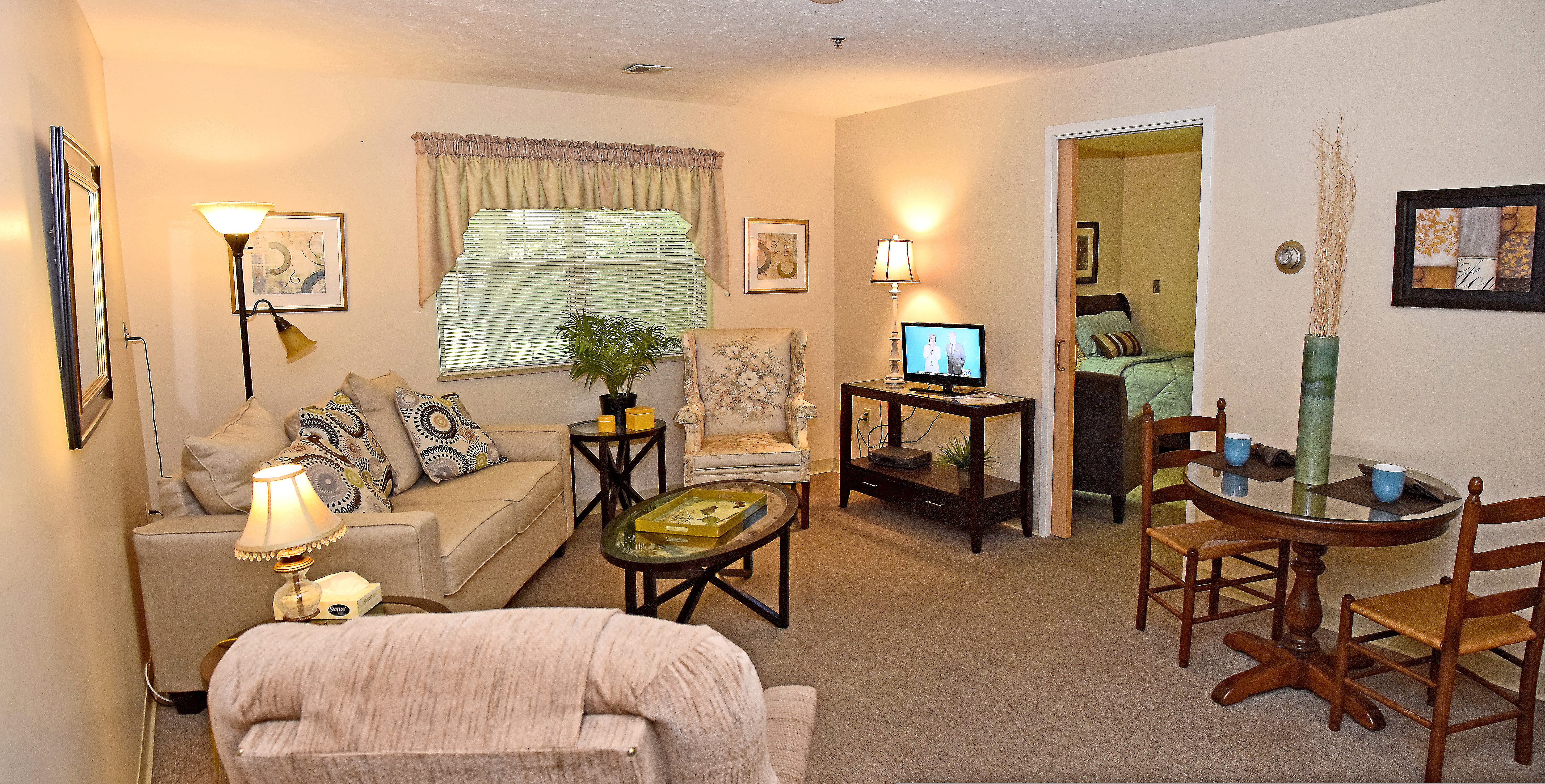 Furnished Assisted Living Respite Suite at O'Neill Healthcare Bay Village